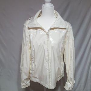 Weatherproof Garment Co. White raincoat.